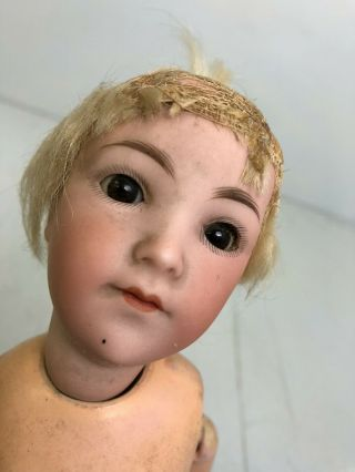 "Antique Armand Marsaille Flapper Lady German Bisque 14 "" Doll C 1915 A 5/0 M"