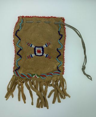 Vintage Sioux Native American Indian Beaded Bag
