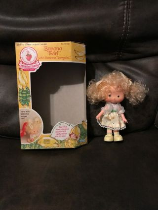 Vintage Rare Strawberry Shortcake Doll Banana Twirl Missing Berrykin