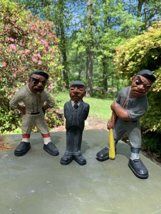 """L.  L.  Rittgers 1941 Authentic """" Extremely Rare """" Vintage Trio Baseball Figures"""