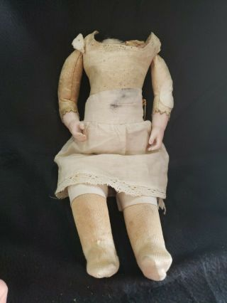 Antique French Bru Jne ? Doll Body With Bisque Arms