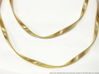 Marco Bicego 18k Gold Long Chain 57gr Twisted Fancy Link Herringbone Omega 36in