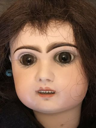 "Antique French Bebe Doll From Estate Paperweight Eyes– 22"" (nr)"