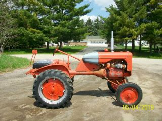 Allis Chalmers B Antique Tractor farmall oliver deere a b g h d wd 45 4