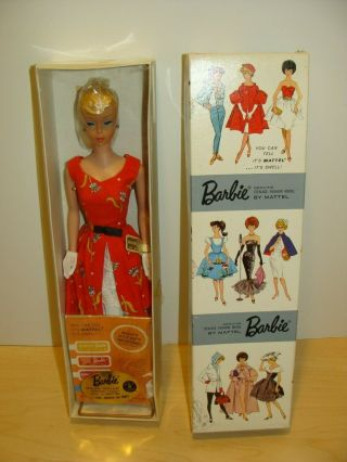 Vintage 1962 Garden Tea Party Lemon Blonde Ponytail Barbie Doll 1606