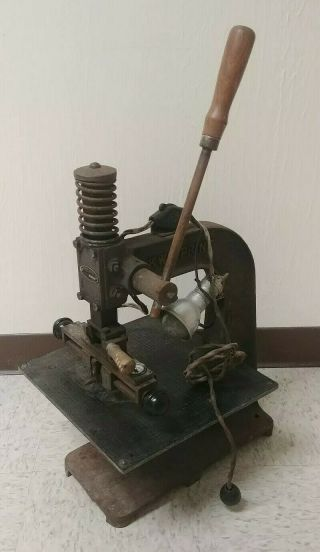 Vintage Kwikprint Stamping Machine Rare Collectable.