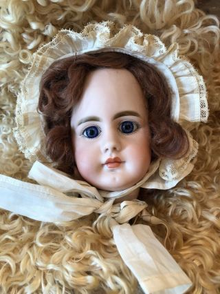 Hard To Find Antique S & H 949 Closed Mouth Doll Head.  As Found