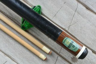 Vintage Brunswick Willie Hoppe Antique Pool Billiards Cue
