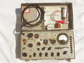 Vintage Military Test Set Electron Tv - 7/u Tube Tester,  Calibrated