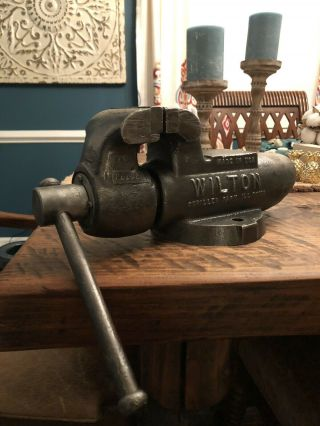 Wilton Bullet Vise 3 1/2 Jaw Vintage Not A Baby But A Great Piece Vice Natural