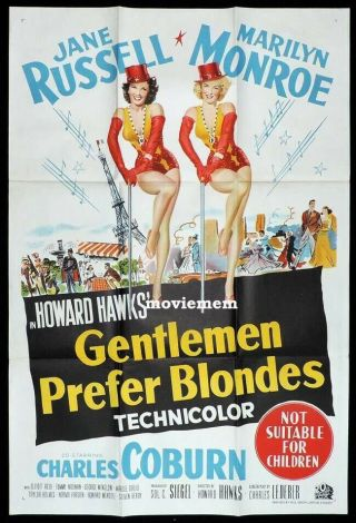 16mm Gentleman Prefer Blondes Feature Movie Vintage 1953 Marilyn Monroe