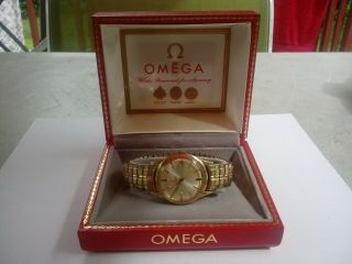 Rare Vintage 1965 Omega Auto 10k Gf Date Watch Cal 560 Ref Kl6312.