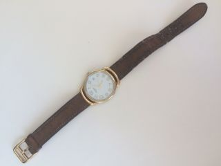 Vintage Hermes Paris Pullman - Style Swiss - Made Watch Gold On Stainless
