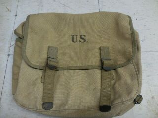 Wwii 1943 Officers Musette Bag