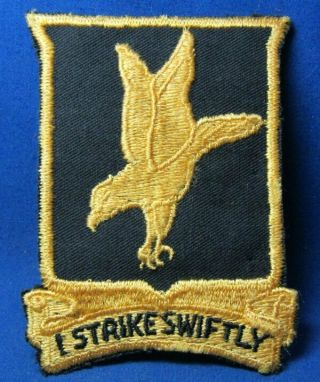 Wwii 812th Tank Destroyer Battalion I Strike Swiftly Di Unit Patch Great Shape
