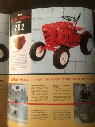 Vintage Antique 1962 Wheel Horse Garden Tractor Model 702 10