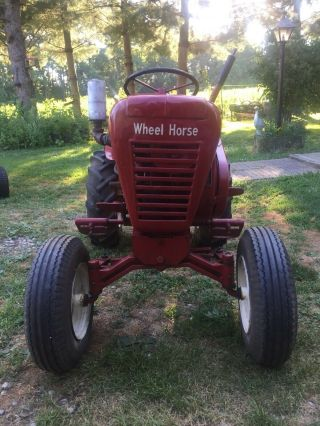 Vintage Antique 1962 Wheel Horse Garden Tractor Model 702 8