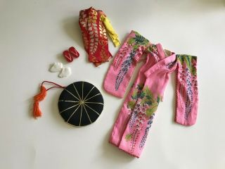 Vintage Japanese Exclusive Kimono - Tammy Doll Clothes Outfit By Ideal