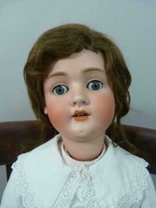 Huge 38 Inch Schoenau Hoffmeister 1906 18 Antique Doll With Period Clothes