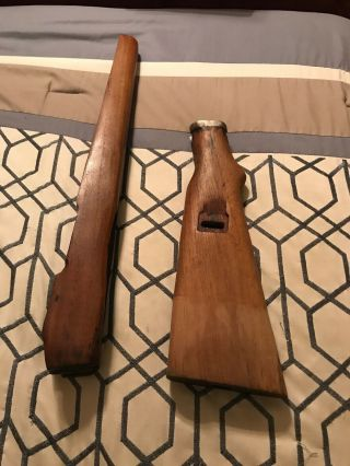 Stock For German G 98/40 Mauser Rifle.  Cut Sporterized Stock.