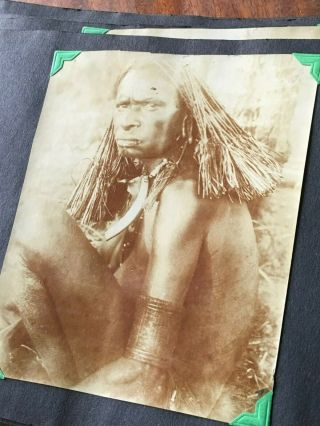 Vintage Wwi Era Photo Album Missionary Military Political History Tribal