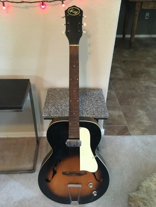 Vintage Kay Archtop Electric Guitar With Case