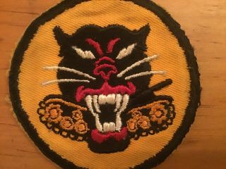 Ww2 Us Army Tanker Destroyer (theatre Made) Patch