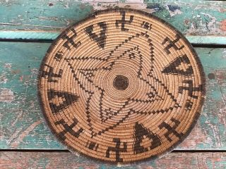 Antique Apache Basketry Pictorial Tray N R.