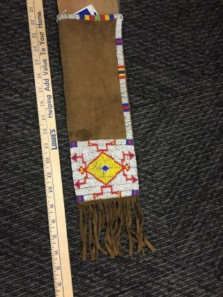 Vintage Or Antique Native Americans Beaded Pipe Bag