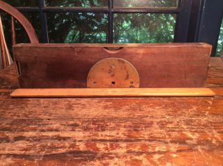 Antique.  Inclinometer Level Brass And Wood Antique.  1873.