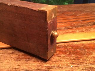 Antique.  INCLINOMETER LEVEL Brass and Wood Antique.  1873. 6