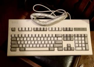 Vintage Dell Old Logo Keyboard At - 101 Gyi3pvat101 Clicky Old School Beast