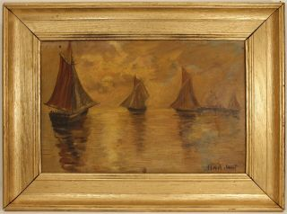 Claude Monet Signed Antique,  Oil Painting On Canvas