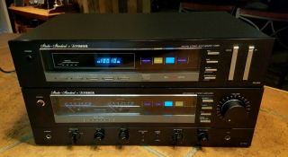 Vintage Fisher Fm - 600 Synthesizer Tuner And Ca - 800 Integrated Stereo Amplifier.
