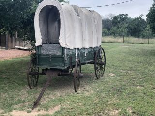 Antique Horse Drawn Covered Wagon - Needs Work