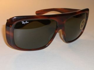 Vintage Bausch & Lomb Ray - Ban Mock Tortoise G15 Big Blair Mask Wrap Sunglasses