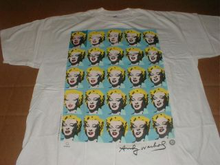 Andy Warhol Marilyn Monroe Xl T - Shirt Stock Made In Usa 1996 Nos