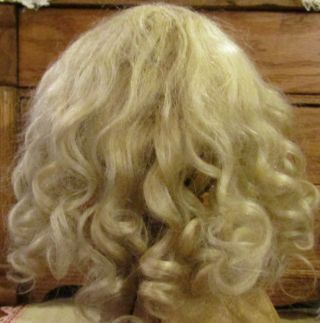 """G152 Antique 10 """" German Mohair Doll Wig For Antique French / German Bisque Dolls"""