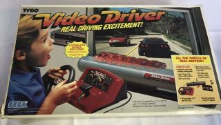 Sega Video Driver Tyco Video Driving System Vintage Game Console Rare