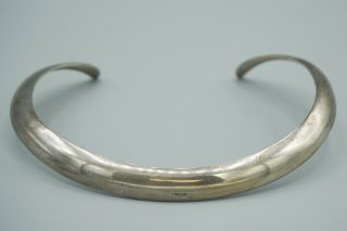 Vtg Authentic Georg Jensen Sterling Silver Neck Ring Necklace 299