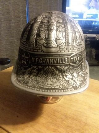 Vintage Texaco One - Of - A - Kind Mcdonald Aluminum Miner Hat,  Engraved,  Owned By Ceo