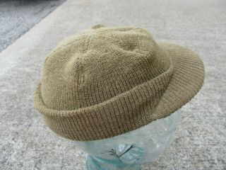 """Us Army Wwii Od Wool Knit """" Jeep """" Cap From 87th Infantry Division"""