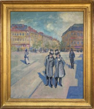 G.  Caillebotte Signed Antique Oil / Canvas Painting French?