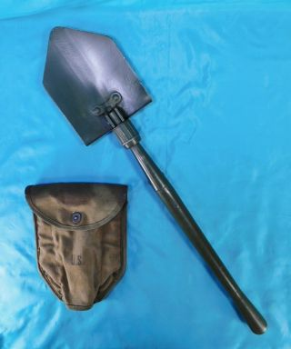 Ww 2,  U.  S.  M - 43 Entrenching Tool With Cover 1943
