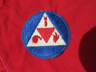 Ww2 United States Cd Civil Defense Shoulder Patch Instructors Wwii W/metal Snaps