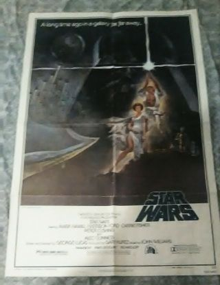 Star Wars Rare Movie Poster 1977 Style - A 1sh A Hope Vintage