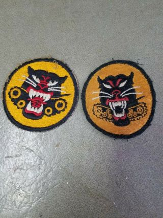 Wwii Us Army Tank Destroyer Panther 8 And 4 Wheel Patch Ww2