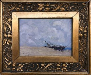 E.  Boudin Signed Antique Oil / Board Painting French?