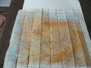"""Cloth Escape Map Spain & Sothern France 20 """" X 23 """" No Date"""