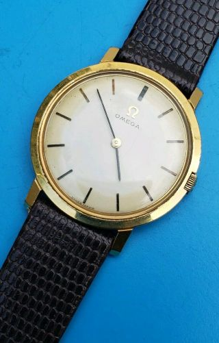 Vintage 1965 Omega Classic Swiss Made Mens 17 Jewels Cal 620 Great Order